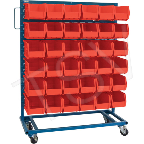 Mobile Rack & Bin Combination - Singled Sided