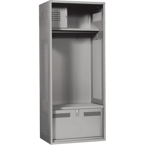 Standard Welded Gear Lockers w/Foot Locker & Lower Shelf