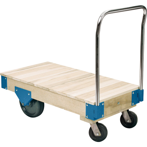 Heavy Duty Platform Trucks - Solid Hardwood Deck