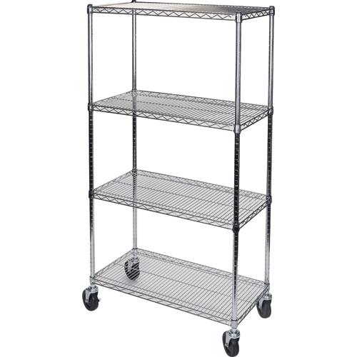 Wire Shelf Carts w/4 Shelves