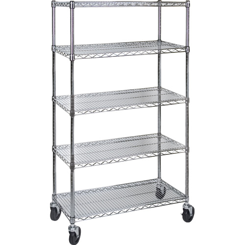 Wire Shelf Carts w/5 Shelves
