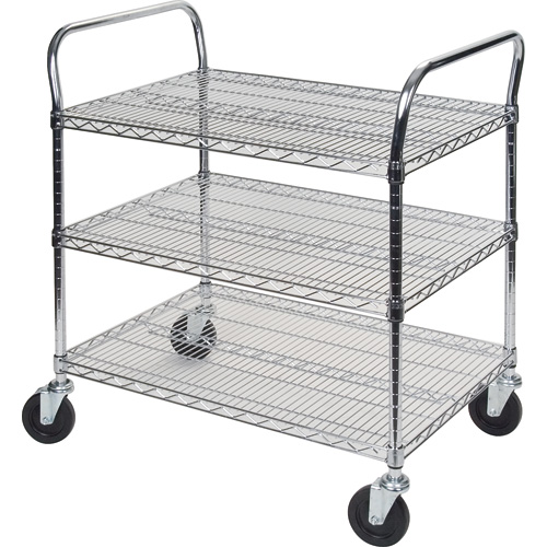Standard Duty Utility Carts w/3 Shelves