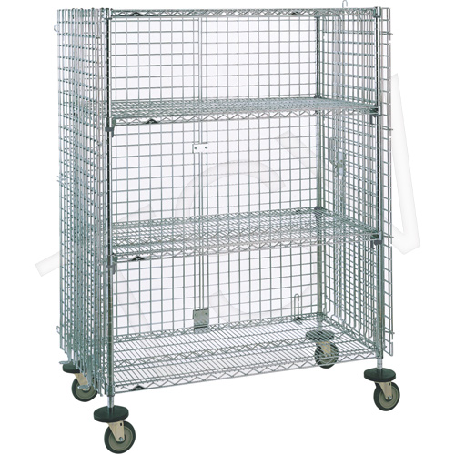 Wire Shelving - Security Carts