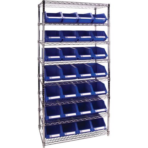 Wire Shelving Units w/Storage Bins