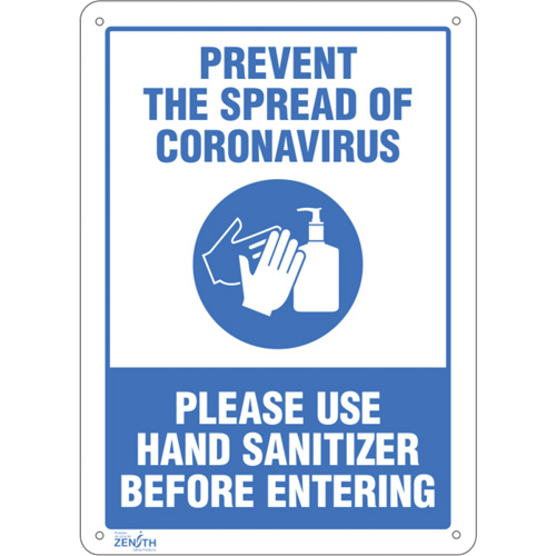 "Safety Signs - ""Prevent Coronavirus, Please Use Hand Sanitizer"""
