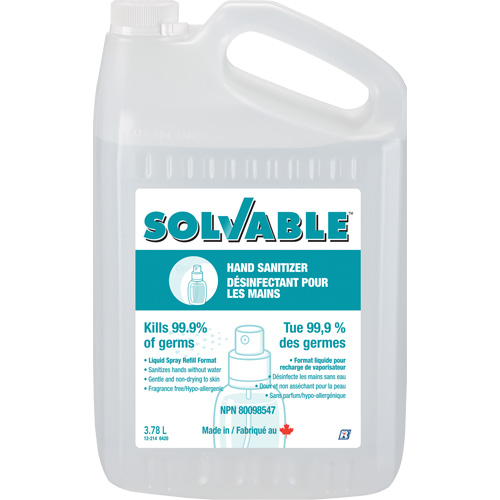 Solvable Liquid Hand Sanitizer