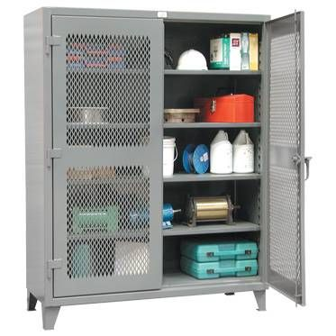 """Heavy-Duty Ventilated Storage Cabinets -  24""""D x 48""""W x 72""""H"""