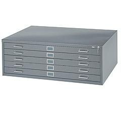 "Steel Plan Files - No. of Drawers: 5 - 53-3/8""W x 41-3/8""D  x 16-1/2""H"