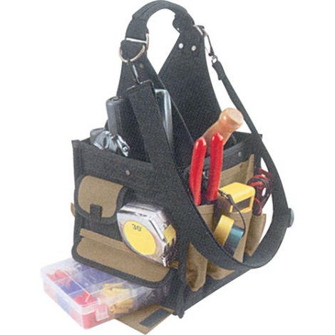 28-Pocket Electrical & Maintenance Tool Pouches - Colour: Black - Material: Canvas - No. of Pockets: 28