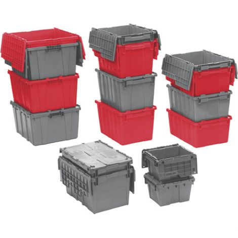 "Flipak® Polyethylene Plastic (PE) Distribution Containers - Outside Dimensions: 30.0""L x 22.0""W - Case/Qty: 1"