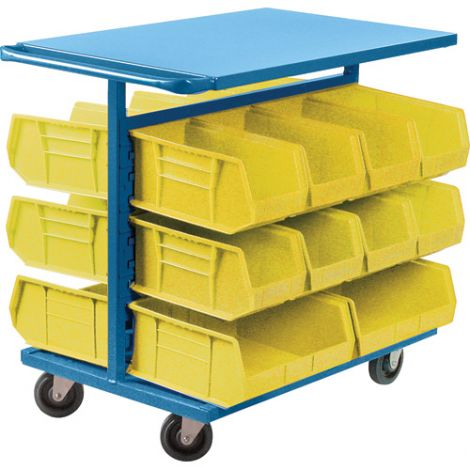"Bin Carts - Cart & Bin Combination - Colour: Yellow - Cart Dimensions: 24""W x 38-1/2""D x 36-1/2""H"