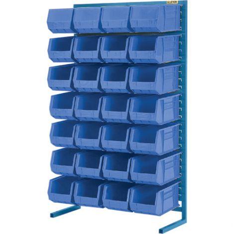 "Stationary Bin Racks - Single-Sided - Rack/Bin Combination - Colour: Blue - 36""W x 12""D x 61""H"