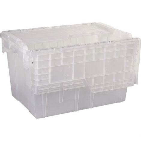 "Flipak® Clear Polypropylene Plastic (PP) Distribution Containers -12.9""H x 21.8""L x 15.2""W - Case/Qty: 3"