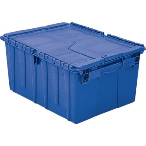 "Flipak® Polyethylene Plastic (PE) Distribution Containers Colour: Blue Height: 12.1"" Length: 26.9"" Width: 16.9"" - Case/Qty: 3"