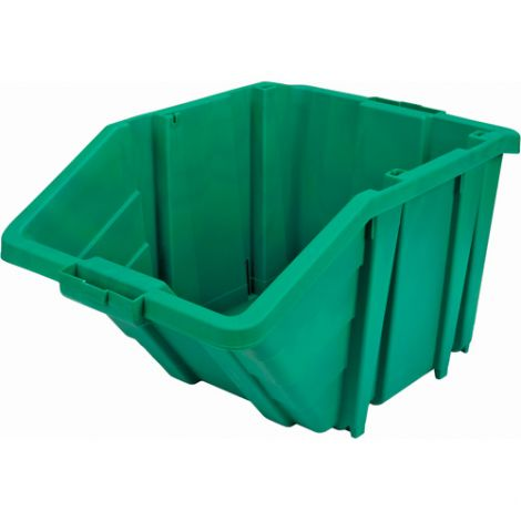 Jumbo Plastic Containers - Colour: Green - Case/Qty: 4