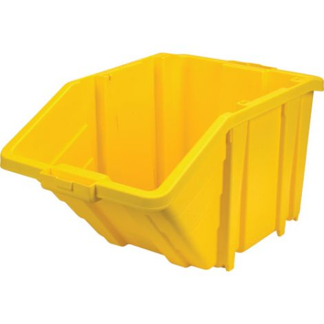 Jumbo Plastic Containers - Colour: Yellow - Case/Qty: 4