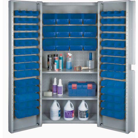 Deep Door Combination Bin Cabinets - Blue