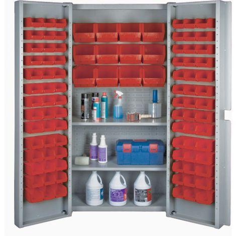 Deep Door Combination Bin Cabinets - Red