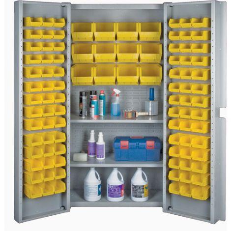 Deep Door Combination Bin Cabinets - Yellow