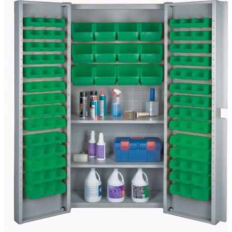 Deep Door Bin Combination Cabinet - Green