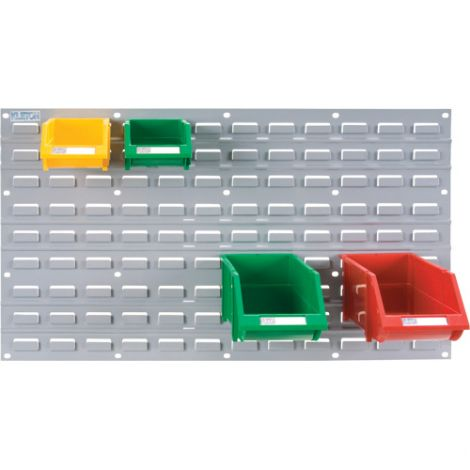 "Metal Bin Support Racks - Panel Size: 36""W x 19""H - Case/Qty: 3"