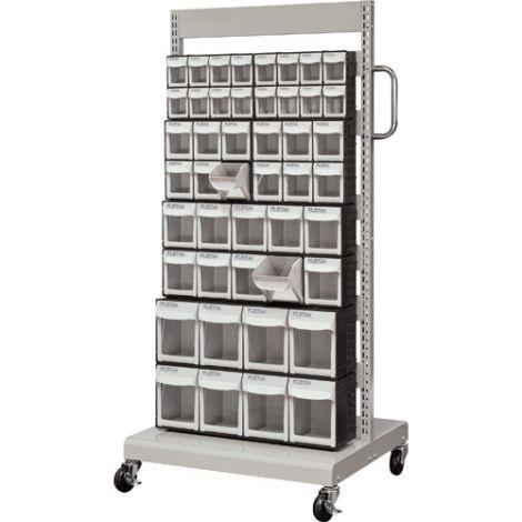 Mobile Tilt Storage Bin System - Single Sided