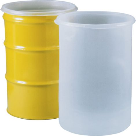 Straight-Sided Inserts for 55-Gallon Open Head Steel Drums - Wall Thickness: 15 mil - Drum Gal.: 55 - Qty/Case: 10