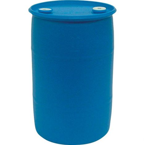 Blue Polyethylene Drums - Drum Size: 30 US gal. (25 imp. Gal.) - Unlined / Open Top