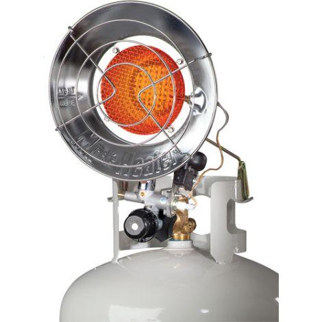 Single Tank-Top Radiant Heater - Power Source: Propane - Min BTU Rating: 8000 BTU/H - Max BTU Rating: 15000 BTU/H