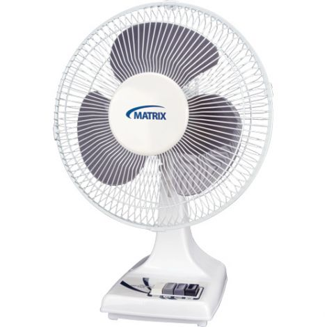 """Oscillating Desk Fans with Push Buttons - Size: 12"""""""