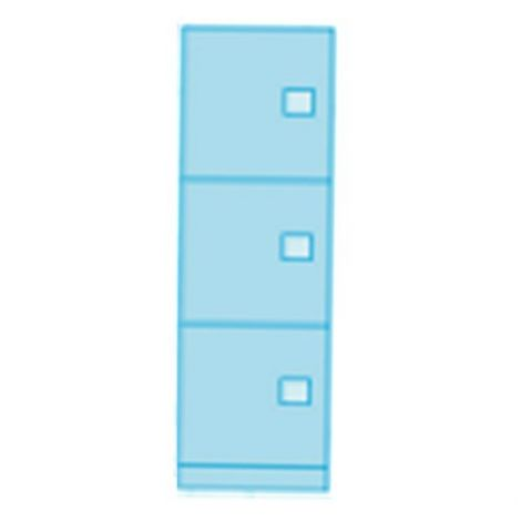 Heavy Duty Evidence Locker - Three Door - 24 x 24 x 82