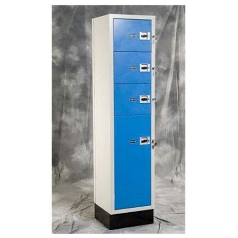 Heavy Duty Evidence Locker - Four Door - 24 x 24 x 82