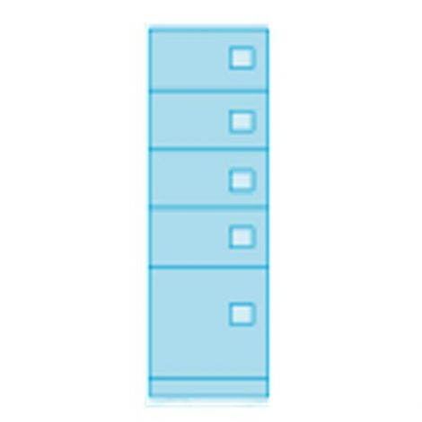 Heavy Duty Evidence Locker - Five Doors - 18 x 24 x 72