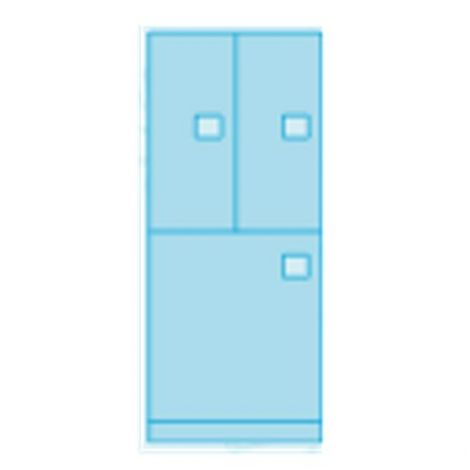 Heavy Duty Evidence Locker - 3 Door Configuration - 24 x 24 x 82