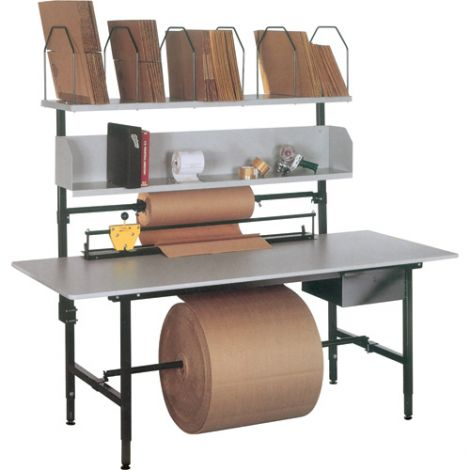 """Packaging & Shipping Station - A Series Bench - Width: 68"""" - Depth: 33"""" - Height: 36"""""""