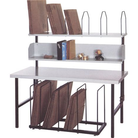 """Economy Packaging & Shipping Station - Width: 68"""" - Depth: 30"""" - Height: 60"""""""