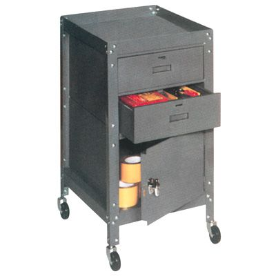 Tool Toter Carts - 2 Drawers & Cabinet