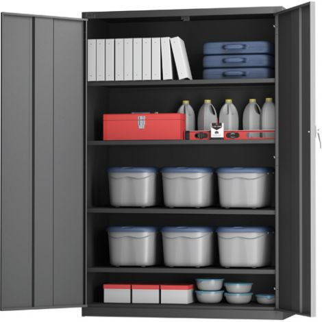 "All-Welded X-Wide Hi-Boy Storage Cabinet - 24""D x 48""W x 72""H"