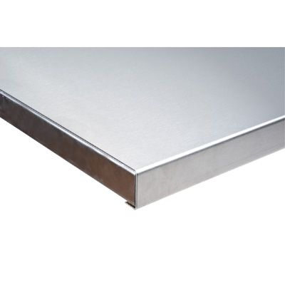 "304 Stainless Steel Wood-Filled Workbench Tops - Depth: 30"" - Width: 48"" - Overall Thickness: 1-3/4"""