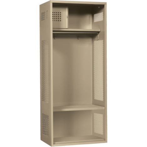 "All-Welded Gear Locker Includes Coat Bar - Colour: Beige - Overall Width: 24"" - Ships Free"