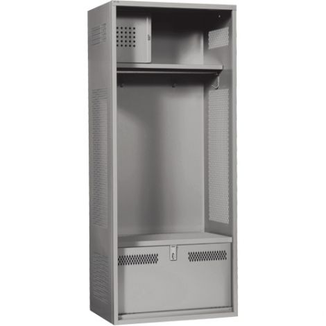 "Standard Welded Gear Locker - Colour: Grey - Overall Width: 24"" - Ships Free"