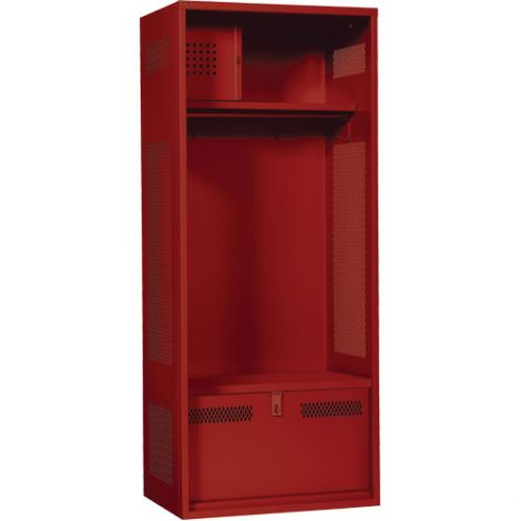 "Standard Welded Gear Locker - Colour: Red - Overall Width: 24"" - Ships Free"