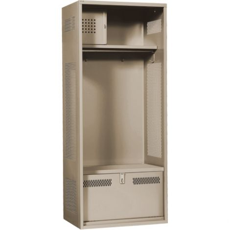"Standard Welded Gear Locker - Colour: Beige - Overall Width: 30"" - Ships Free"