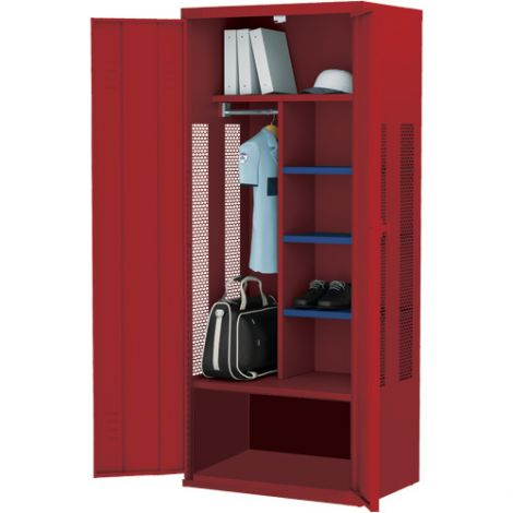 All-Welded Deluxe Gear Locker - Base Model - Colour: Red - Ships Free