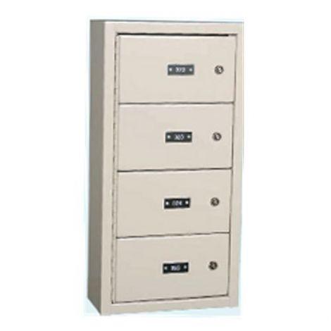 """Gun Storage Locker - 5 Door - 13""""W x 6-½D x 14-1/8""""H"""