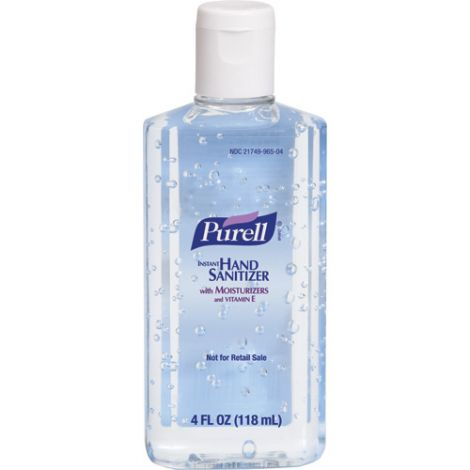 Purell® Hand Sanitizer - Container Type: Squeeze Bottle - Net Volume: 118 ml - Fragrance: Unscented - Qty/Case: 48