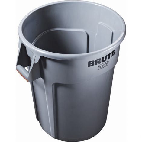BRUTE® 44-Gallon Round Containers - Colour: Grey