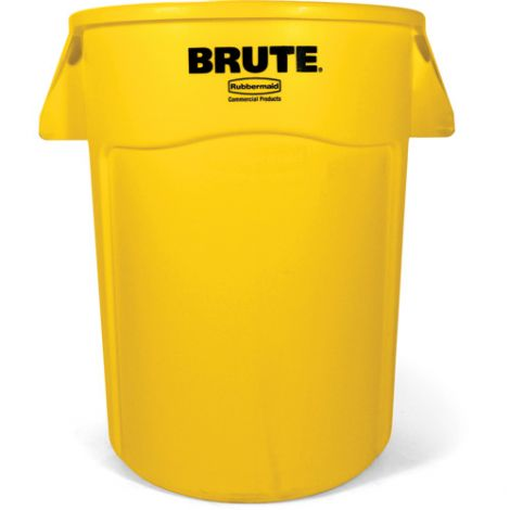BRUTE ® 44-Gallon Round Containers - Colour: Yellow