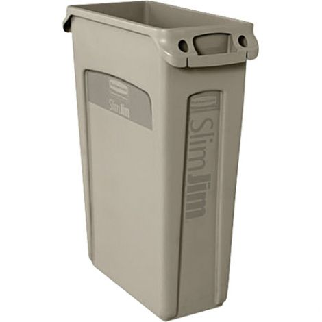 Slim Jim® Container with Venting Channels - Capacity: 23 US gal. - Colour: Beige
