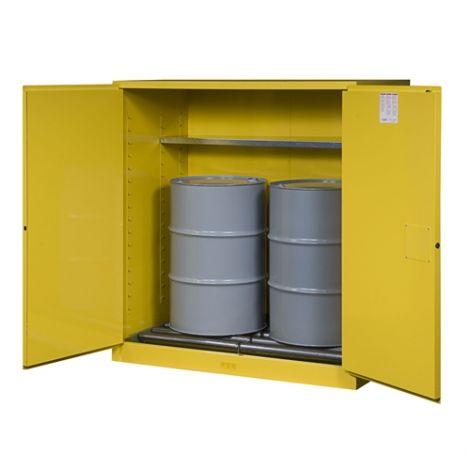 Sure-Grip® EX Vertical Drum Storage Cabinets - No. of Drums: 2 - Door Type: 2 Doors, Self-Close with drum rollers